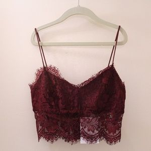 Topshop Mulberry Lace Bralette